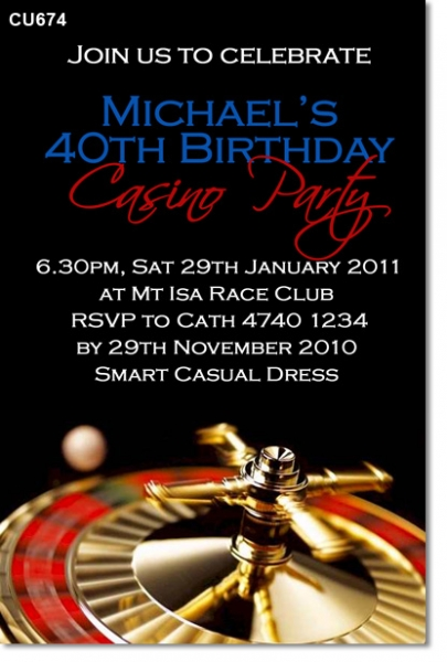 CU674 - Casino Party Invitation