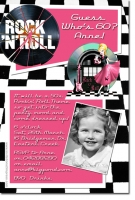 CU683 - 1950s and 1960s Rock and Roll - Ladies Birthday Invitations - Birthday Party Invitations ...