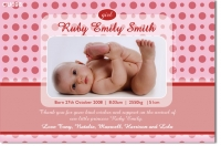 CU698 - Baby Announcement Ruby Spots