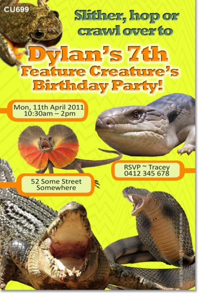 CU699 - Reptile Party Birthday