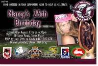 CU710 - Adult Birthday NRL Invitation