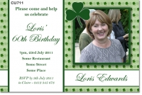 CU711 - Irish Shamrock Birthday Invitation