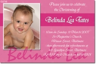 CU718 - Birthday Girls Invitation - Pink