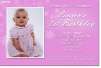 CU719 - Birthday Girls Invitation - floral background