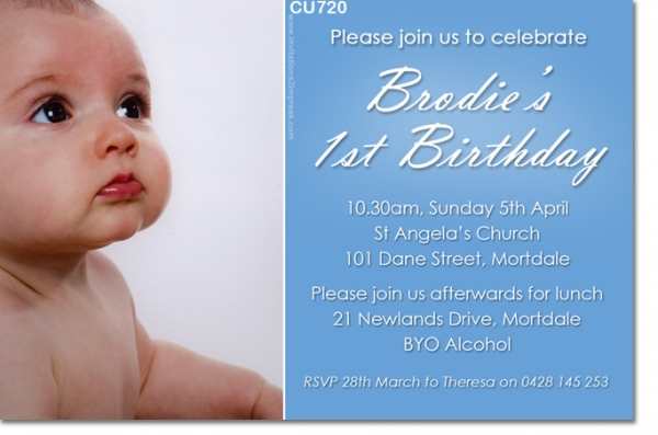 CU Boys Birthday Invitation Boys Christening Baptismal - Birthday invitation and christening