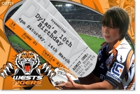 CU721 - NRL Tigers Birthday Invitation