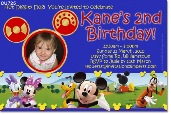 CU725 - Mickey Mouse Clubhouse Invitation