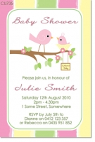 bird baby shower invitations, Baby shower invitations