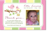 CU737 - Little Bird Baby Girl Photo announcement