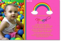 CU738 - Girls Rainbow Invitation