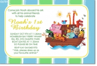 CU751 - Noahs Ark Birthday Invitation