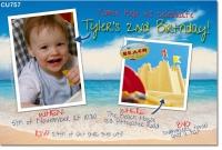 CU757 - Beach Party Invitation