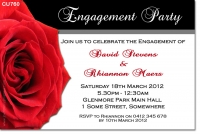 CU760 - Engagement Invitation with Rose