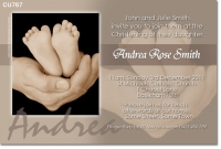 CU767 - Christening Invite with Babies feet