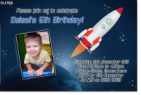 CU768 - Boys Rocket Birthday Invitation
