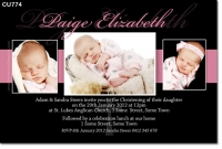 CU774 - Christening Photo Invitation