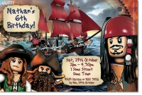 CU777 - Boys Pirate Lego Invitation