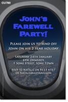 CU780 - Mens Farewell Invitation