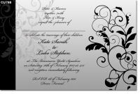 CU788 - Wedding Invitation Black and white