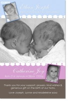 CU800 - Twin or Joint Baby announcement photo card