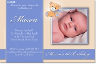 CU805 - Teddy Bear Invitation