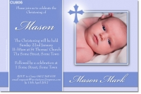 CU806 - Christening Invitation with Cross