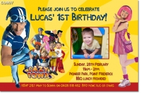 CU807 - Lazy Town Birthday Party Invitation