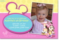 CU814 - Baby Minnie Mouse Birthday Invitation