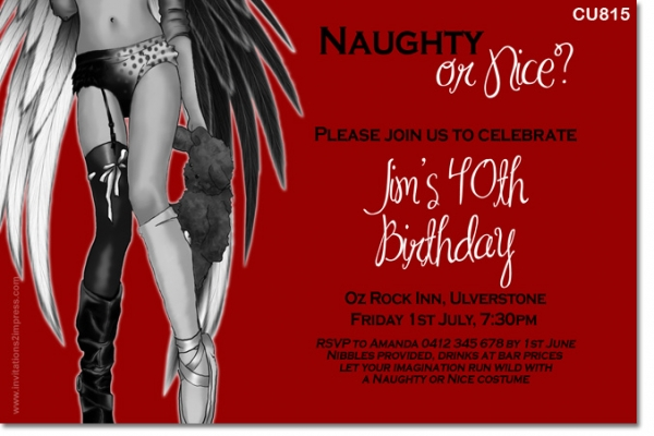 CU815 - Naughty or Nice Invitation