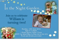 CU817 - In The Night Garden Boys Birthday Invitation