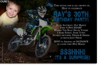 CU821 - Dirt Bike Birthday Invitation