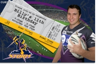 CU825 - Melbourne Storm Invitation
