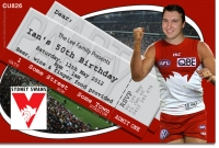 CU826 - Sydney Swans Birthday Invitation