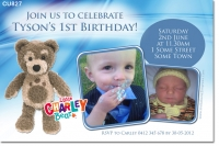 CU827 - Little Charley Bear Birthday Invitation