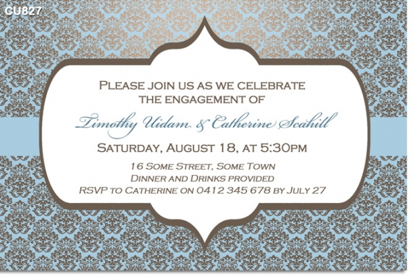 CU828 - Engagement Invitation No photo