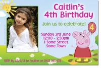 CU829 - Peppa Pig Birthday Invitation