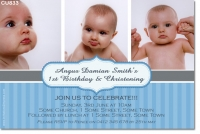 Cu833 Boys Birthday And Christening Invitation Baby Boy