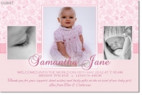 CU847 - Girls Birthday and Christening Invitation
