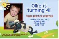 CU851 - Shaun the Sheep Invitation