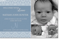 CU853 - Boys Baby Announcement Photo Card
