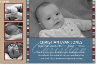 CU856 - Boys Baby Announcement Photo Card