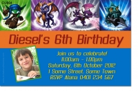 CU864 - Skylanders Birthday Invitation