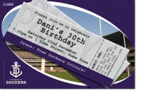 CU865 - Fremantle Dockers Birthday Invitation