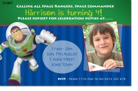 CU867 - Buzz Lightyear Party Invitation