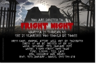 CU869 - Fright Night Party Invitation