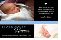CU870 - Baby Boy Announcement Photo Card