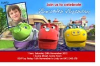 CU872 - Chuggington Birthday Invitation