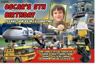 CU876 - Lego Boys Birthday Invitation