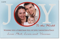 CU878 - Christmas Photo Card Joy