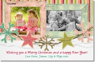 CU880 - Christmas Photo Card Summer Theme
